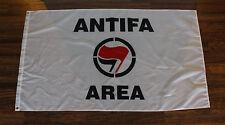 New White Anti-Fascist Area Action Flag 3 x 5 Banner Anti Nazi & Trump ANTIFA