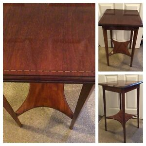 Square Topped Side Occasional Table