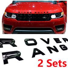 2 x BLACK LETTERING RANGE ROVER L405 SPORT L494 EVOQUE P38 P322 FRONT REAR BADGE