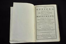 The Offices According to the Use of the Church of England, 1780  HB Good