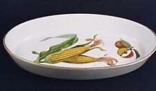 """Royal Worcester EVESHAM GOLD - Oval Baker  12"""" (SMOOTH, CORN)"""