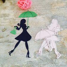 Shopping Girl DIY Cutting Dies Stencil Scrapbook Album Paper Card Embossing