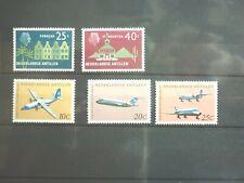Niederländisch Antillen 5 Marken ** aus 1958+68