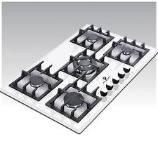Premier Range 70cm 5 Ring White Glass Built-In Gas FSD Hob D-Series Pro