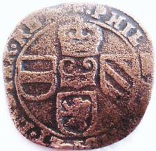 BELGIQUE .PAYS BAS ESPAGNOL .1657 .LIARD ATELIER DE TOURNAIS .CUIVRE 26 MM.MAX