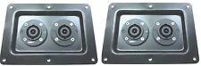 (2) Two Large Metal Speaker Jack Plates with NL8 for Dual Large SpeakOn NL8MPR