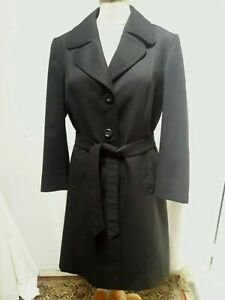 IMPERMEABLE TRENCH FEMME noir CYCLONE T38 VINTAGE 60 BLACK WOMAN TRENCH COAT S