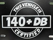 140 db Certified Decal Sticker DC Audio Sterio 16 Different Colors Available 7""