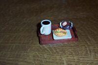 rechteckiges Tablett mit leckerem Frühstück- Miniatur 1:12- Puppenhaus