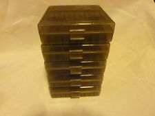 (5 PACK) 45 ACP / 40 /10mm Ammo cases / boxes SMOKE color 500 rnds of storage