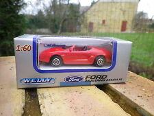 WELLY 1/60 3 INCH: FORD MUSTANG MACH III rouge état neuf boite jamais ouverte.