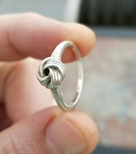 RJ 9 VINTAGE STERLING SILVER TRUE LOVE LOVER'S KNOT RING