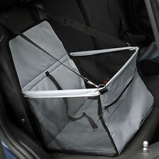 Folding Grey Travel Pet Bed/Seat Car Carrier With Safety Belt For Dog/Puppy/Cat