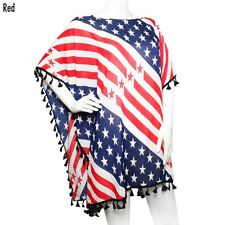 Red White and Blue Patriotic Kimono Top