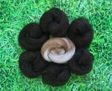 Needle Felting Natural Black & Blend Ideal for Animal Projects, Felting Wool 45g