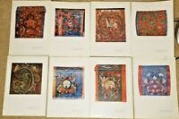 8 Color Prints Old Norwegian Rose-Painting Portfolio - Mittet - 100/071 A