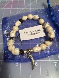 Silpada Designs stone and sterling stretch brace