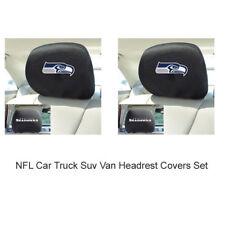 New 2pc NFL Seattle Seahawks Automotive Gear Car Truck Headrest Covers Set