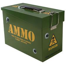 KIDS ARMY AMMO TIN HINGED FLIP LID BOYS SOLDIER TOY STORAGE BOX LUNCHBOX