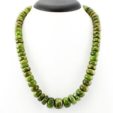 TOP CLASS 650.00 CTS NATURAL UNTREATED RICH GREEN GARNET BEADS NECKLACE