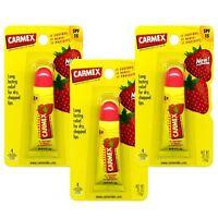 Carmex Strawberry Moisturing Lip Balm Tube SPF15 10g - 3 Pack