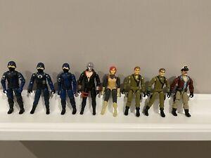 GI Joe 1982 1983 Lot Of 8 Cobra Officer Trooper Destro Admiral Scarlett Steeler