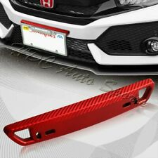 1 x JDM Red Carbon Look Bumper Front License Plate Holder Relocate Bracket