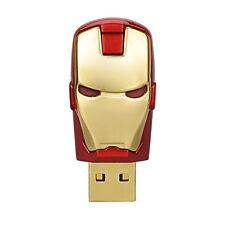 8GB Gold Iron Man Mark USB Flash Drives USB 2.0 Thumb Pen Drives Storage