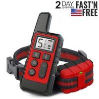875 Yard Remote Electric Dog Shock Collar Waterproof IP67 Anti Bark Pet Training