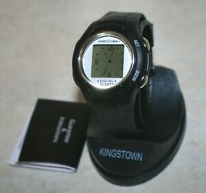Kingstown Digital Quartz Watch; Black with case and Instructions. NEW!