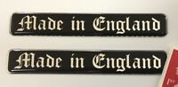 2 x 'Made in England' Stickers Super Shiny Domed Finish - Old London Font