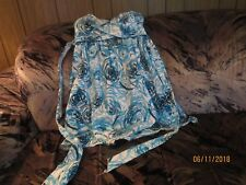 AS YOU WISH WEDDING PROM PARTY DRESS SIZE 5 BUILT IN BRA LINED TOP BLUE FLORAL