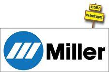 "Miller Welding Commercial Welder ARC MIG TIG Decal Sticker 2.0"" x 6.0"" p155"