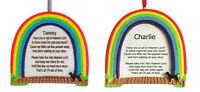 RAINBOW BRIDGE PERSONALISED CAT MEMORIAL PLAQUE - ANY NAME ADDED