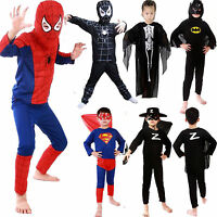 Jungen Kinder Kinder Kostüm Batman Spiderman Superman Cosplay 3-7 Outfits