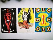 SIGNED Renato Guttuso I Tarocchi Rare 3 CARDS Litograph Collectable Tarot
