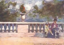 PARIS. In the Tuileries 1909 old antique vintage print picture