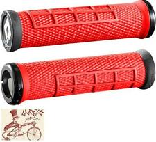 ODI ELITE FLOW LOCK-ON RED BMX-MTB BICYCLE GRIPS