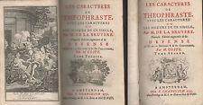 LA BRUYÈRE Les Caractères de Théophraste. Changuion 1738. B.Picart.Alb.Bergevin