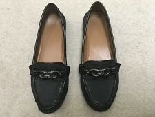 Coach Fortunata Women's Size 8 Black Drivers Loafers Flats New