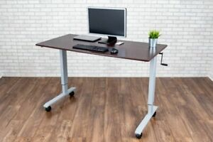 "60"" High Speed Crank Adjustable Stand Up Desk"