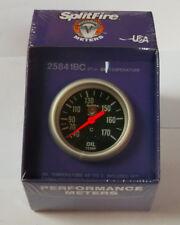 SplitFire (mecanismo) ACEITE TEMPERATURA Calibrador, 40-170c, Cara Negra, (67mm)