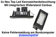 2x TOP LED Module Kennzeichenbeleuchtung Skoda Rapid NH1 NH3 (ADPN