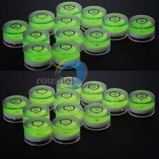 10x Disc Bubble Spirit Level Round Circle Circular Jewellers Tool Tripod 15x6mm