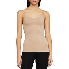 BCBGMAXAZRIA Womens Daisy Tan Knit Round Neck Camisole Top Shell M/L BHFO 6567