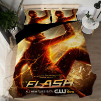 The Flash 3D Design Bedding Set 3PC Of Duvet Cover Pillowcase Single Double King