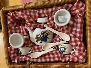 Madeline Porcelain Tea Set Wicker Picnic Basket - Original