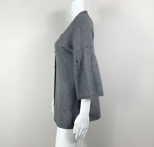 VINCE 100% Cashmere Sweater Cardigan Gray 3-Button Women's Size Large - NTSF