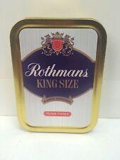 Rothmans King Size Retro Advertising Brand Cigarette Tobacco Storage 2oz Tin