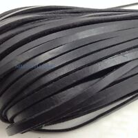 10 Meter Flat Genuine Leather Rope Cord for Bracelet Necklace Strap DIY 3mm-10mm
